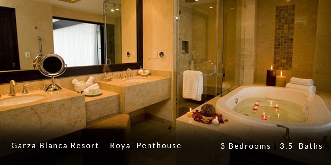 Garza Blanca Resort & Spa Royal Penthouse   Vacation Rentals   Casa ...