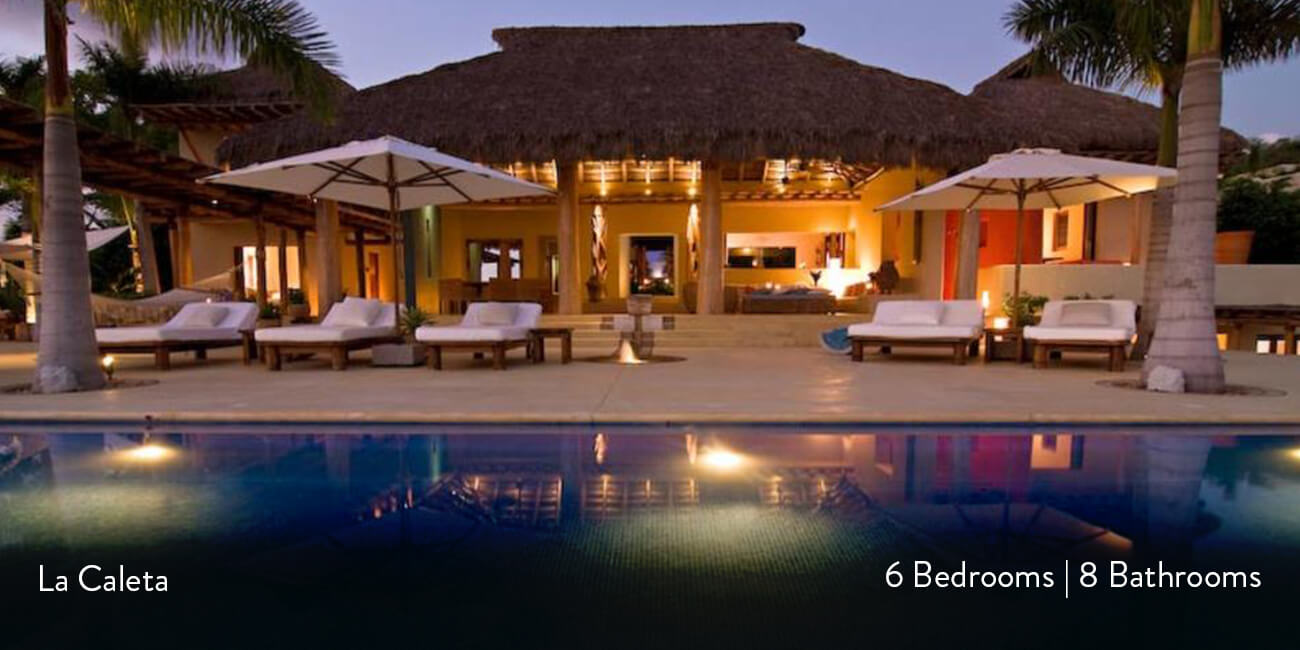 la caleta beachfront home four seasons in punta mita casa bay villas